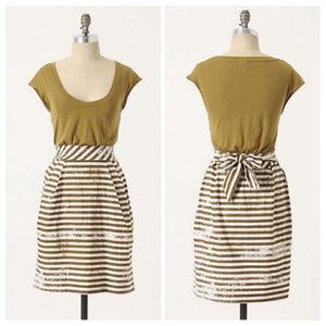 LITTLE YELLOW BUTTON eraser dress striped S7
